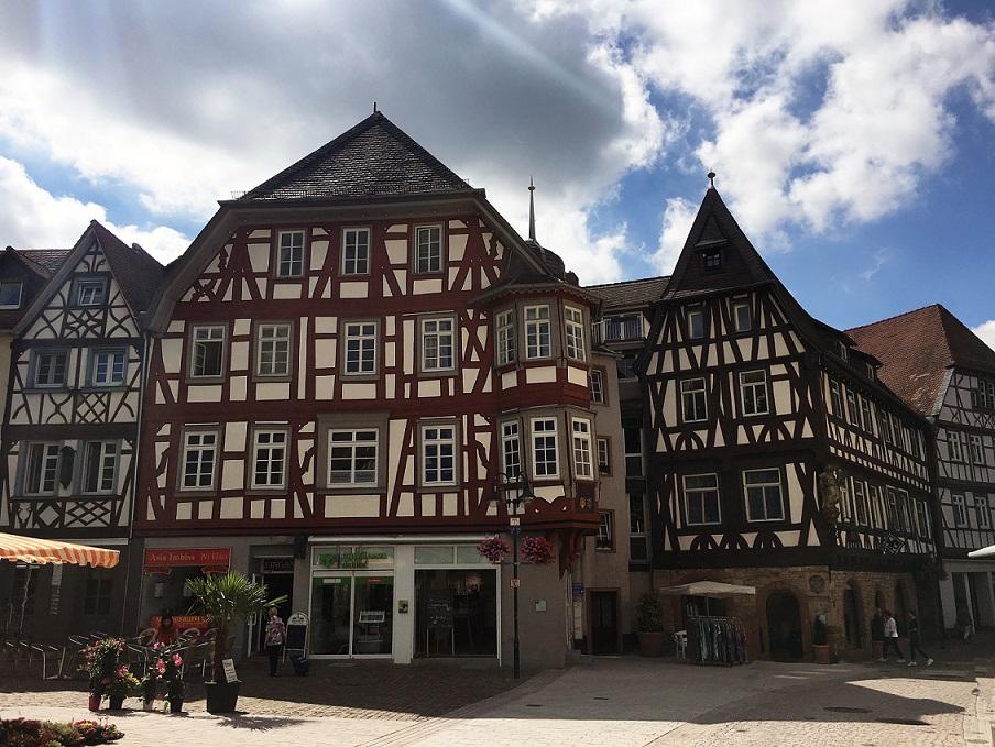Fachwerk am Bensheimer Marktplatz